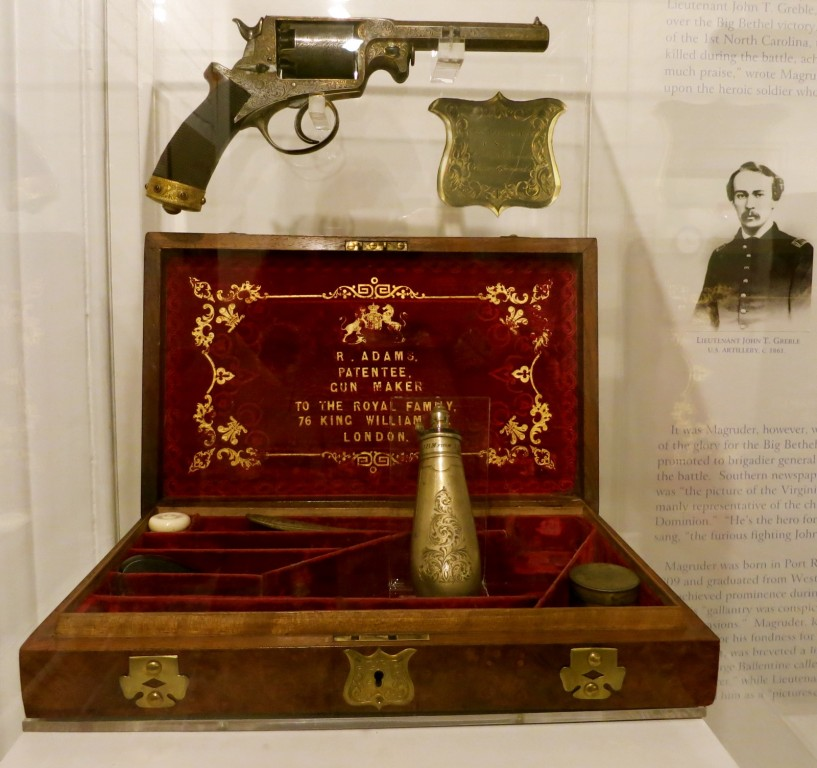 General John Magruder's silver Bejeweled Revolver, Lee Hall Mansion, Newport News, VA