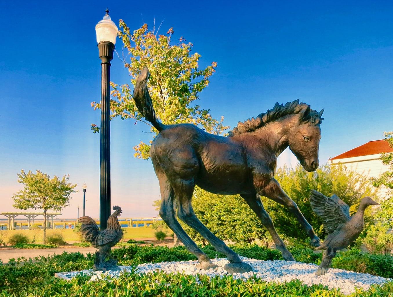 Pony Statue Chincoteague VA