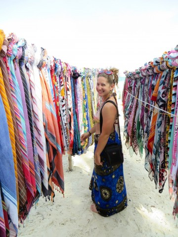 Colorful scarf market, Diani Beach, Kenya