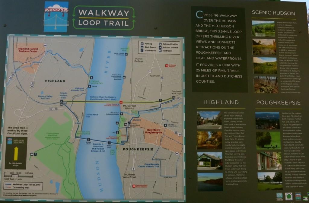 Walkway Loop Trail Map - Poughkeepsie-NY