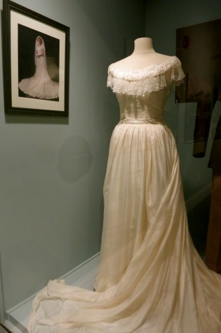 Wedding dress made of parachute cloth from Langley AFB, Hampton History Museum VA