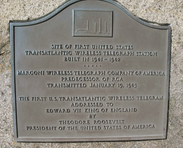 Site of one of the first transcontinental wireless transmissions in the world - at Marconi Beach, Wellfleet MA