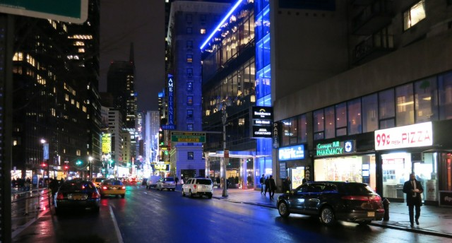 Broadway at 55th St.Towards Times Square New York City