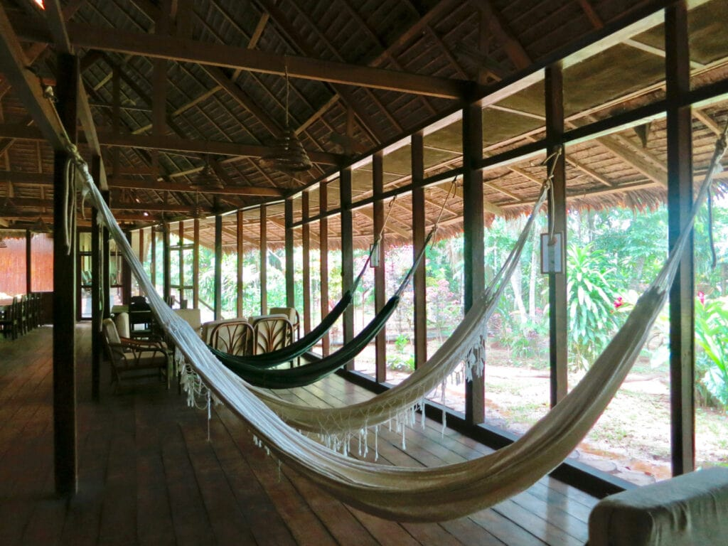 Hammocks Sandoval Lake Lodge Peru