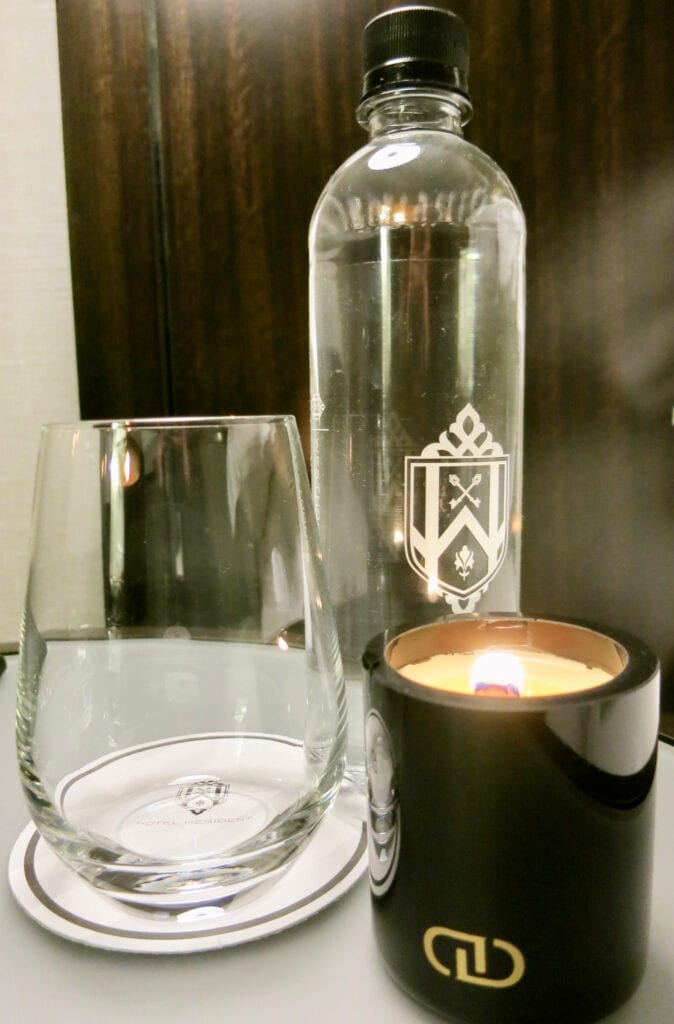 WestHouse Hotel Turn Down Candle NYC