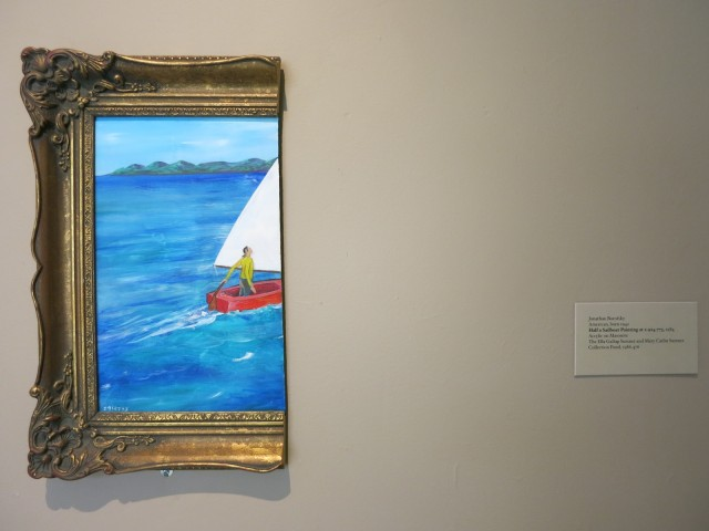Jonathan Borofsky's 1984 Half A Sailboat Painting Wadsworth Antheneum Hartford CT