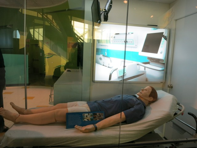 Sim Man, Connecticut Science Center, Hartford CT