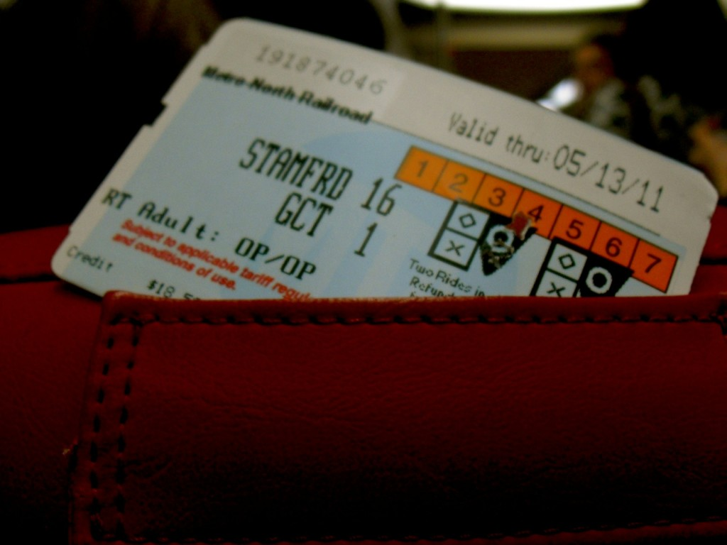 Stamford CT Metro North Train Ticket
