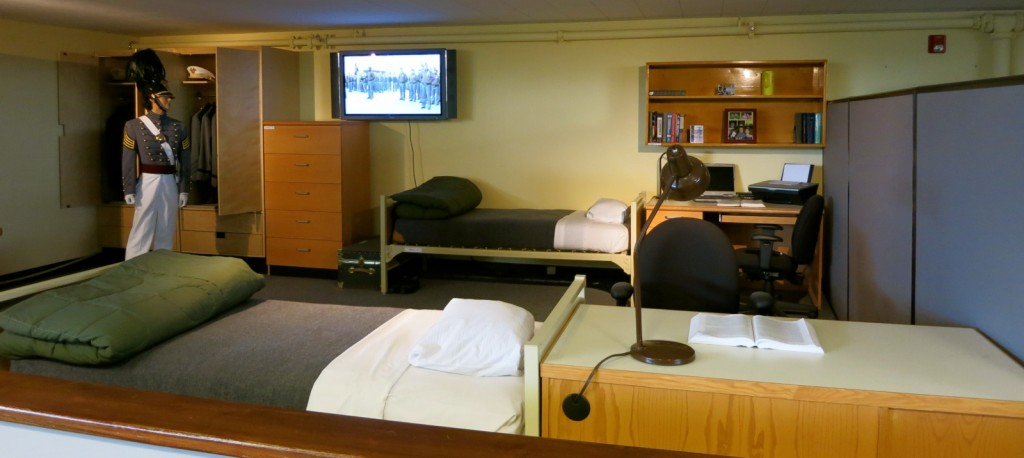 Re-creation of Cadet Dorm Room, West Point Military Academy NY
