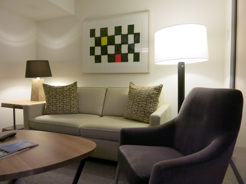 Conrad Hotel NYC guest room sitting area