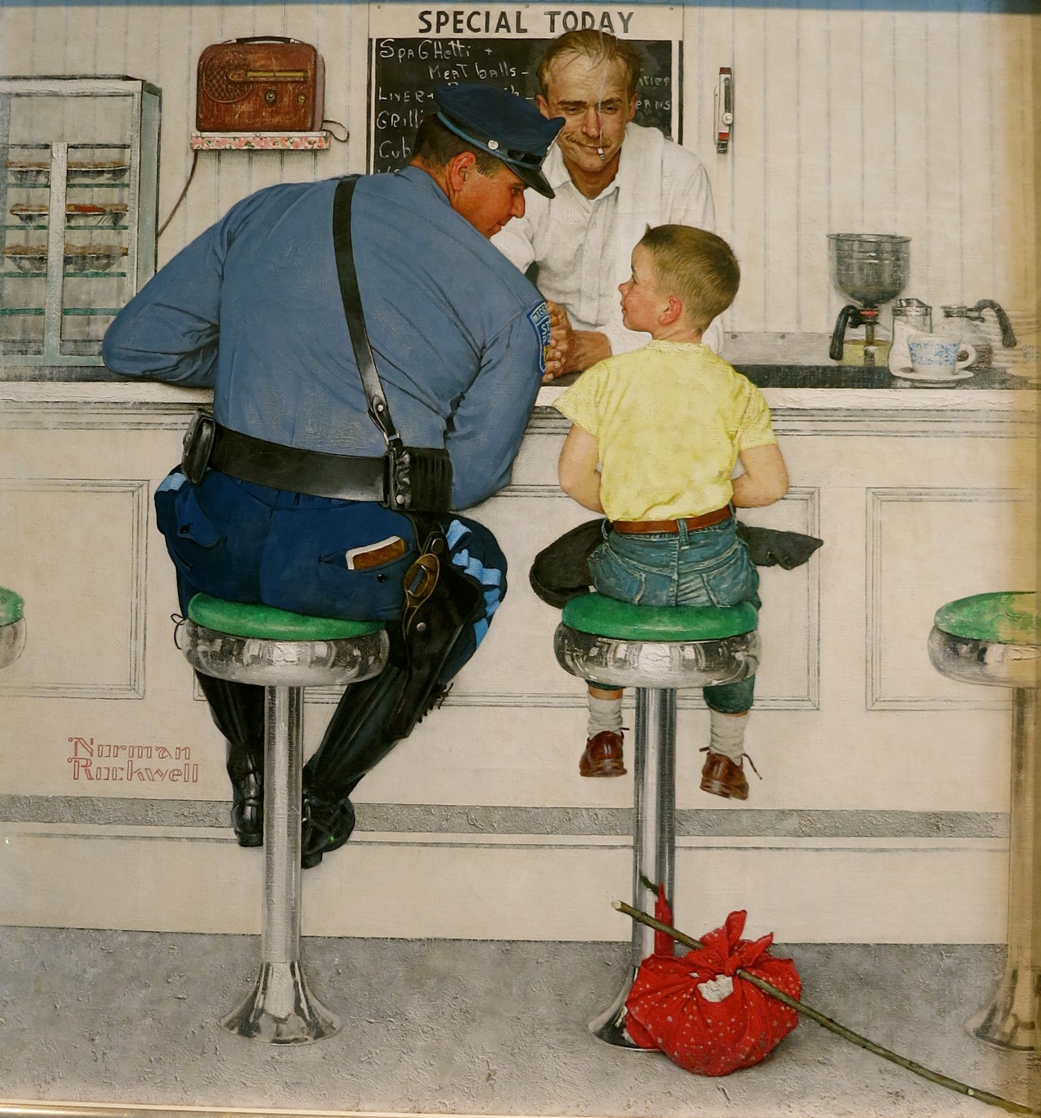 Norman Rockwells Famous cop and runaway boy illustration Norman Rockwell Museum Stockbridge MA