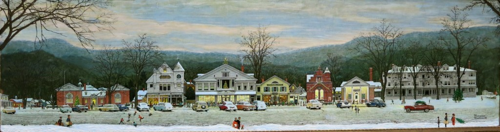 Stockbridge Main Street by Norman Rockwell, Norman Rockwell Museum, Stockbridge, MA