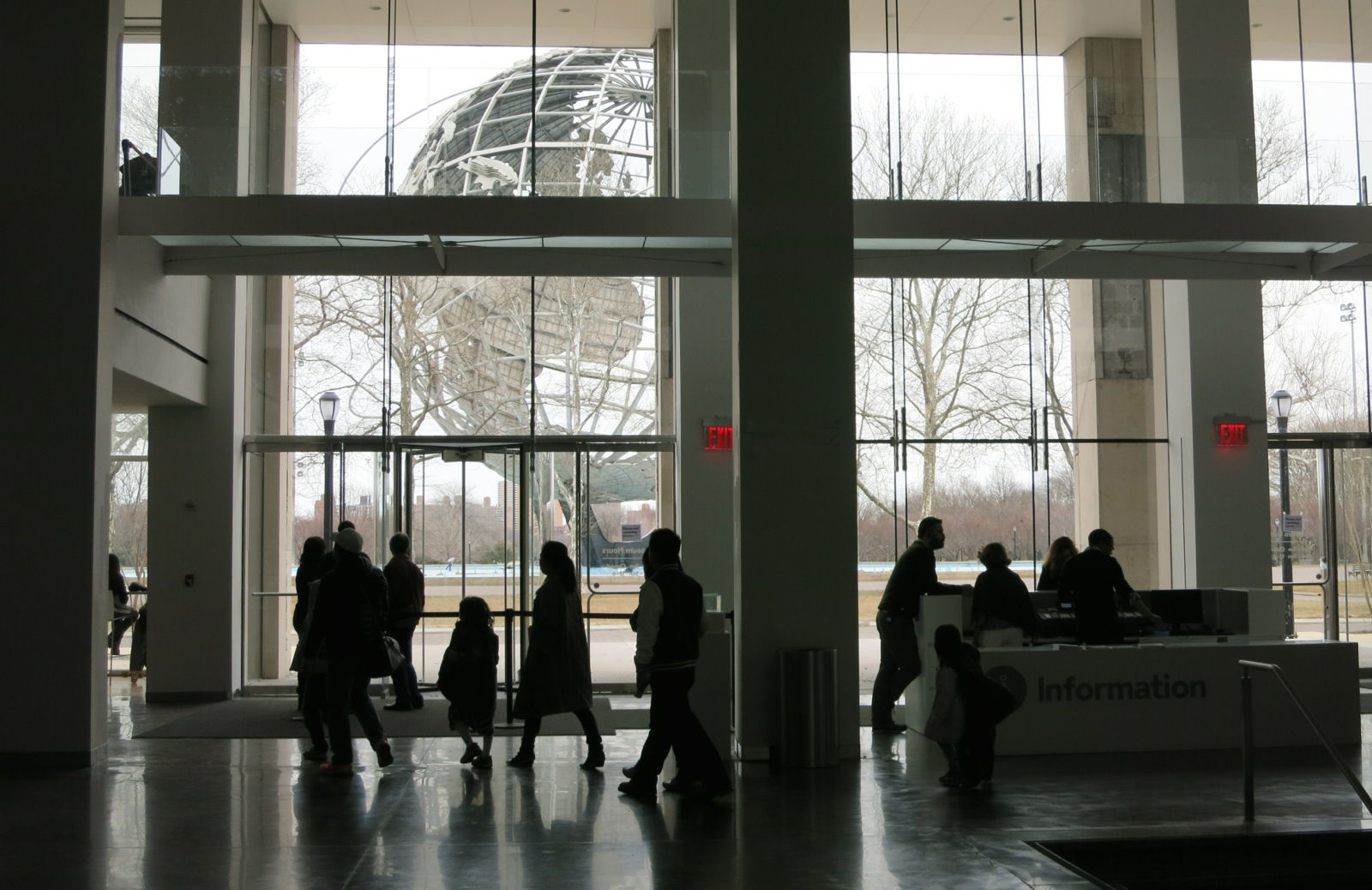 Queens Museum with Worlds Fair Globe in background