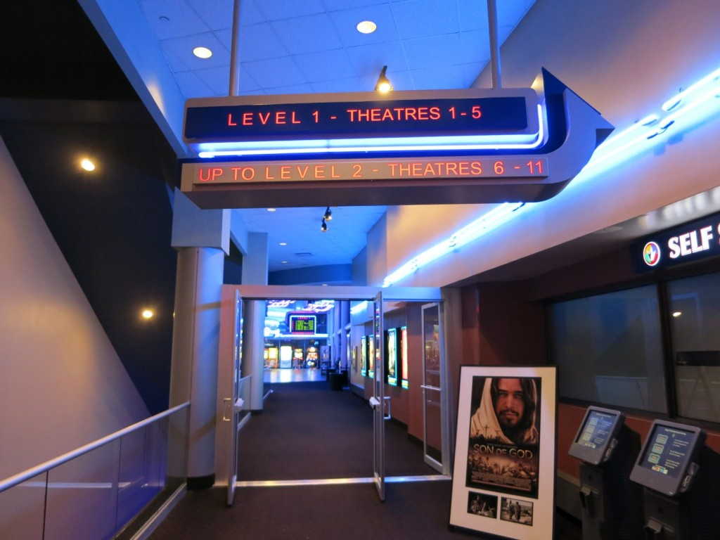 Regal Cinema Downtown NYC from Conrad Hotell Lobby