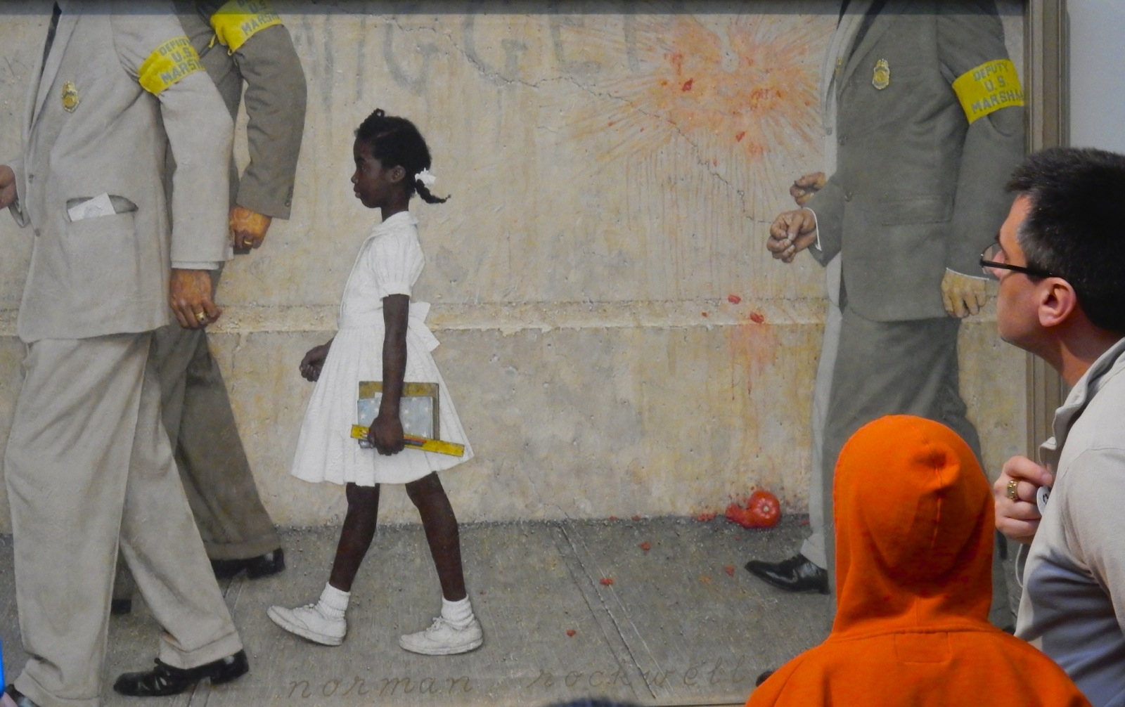 Ruby Bridges Goes to School Norman Rockwell painting at Norman Rockwell Museum Stockbridge MA