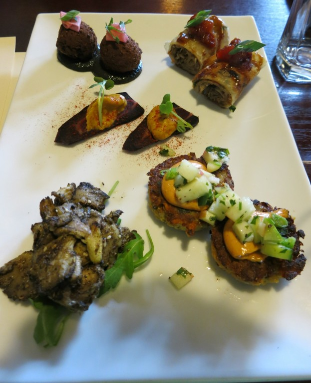 Spring and Vine vegan sampler, New Hope PA