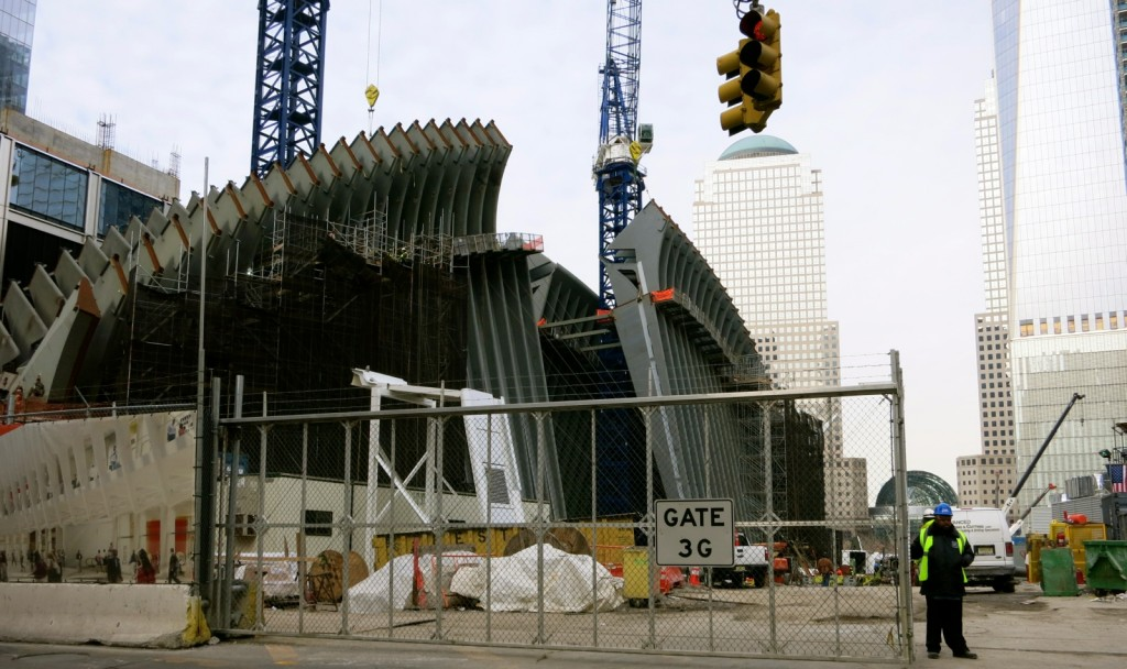 World Trade Center Transportation Hub under construction, Downtown NY