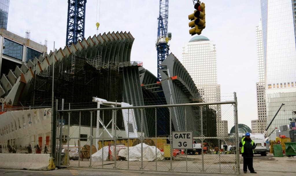 World Trade Center Transportation Hub under construction, Downtown NY
