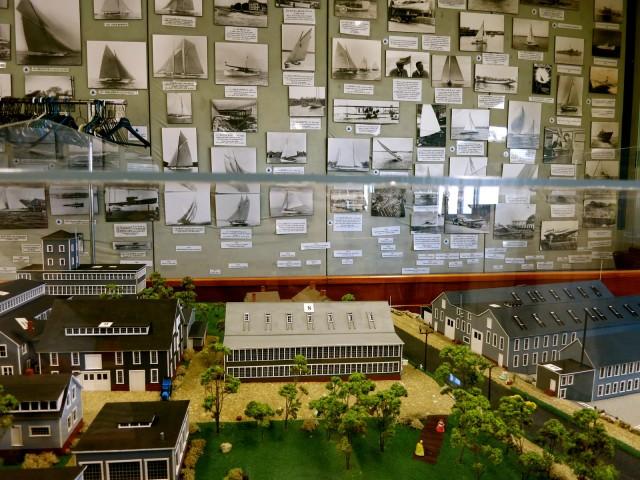 Herreshoff Marine Museum diorama and memorabilia, Bristol RI