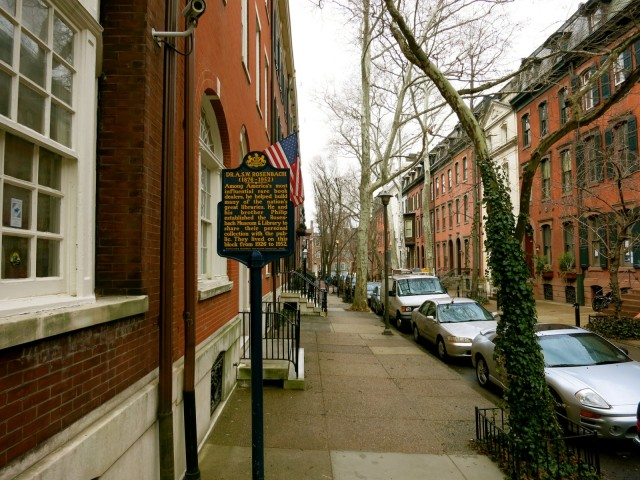 Rosenbach Museum and Library, Delancy St., Philadelphia PA