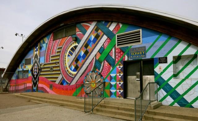The Jewelry Box, on Towey Center, Mural Arts Tour, Philadelphia PA