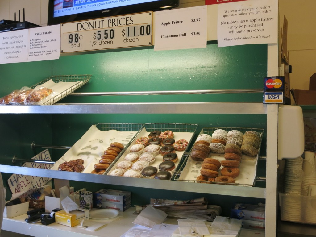 Martha's Vineyard Gourmet Café & Bakery by day, Back Door Donuts at night, Oak Bluffs MA