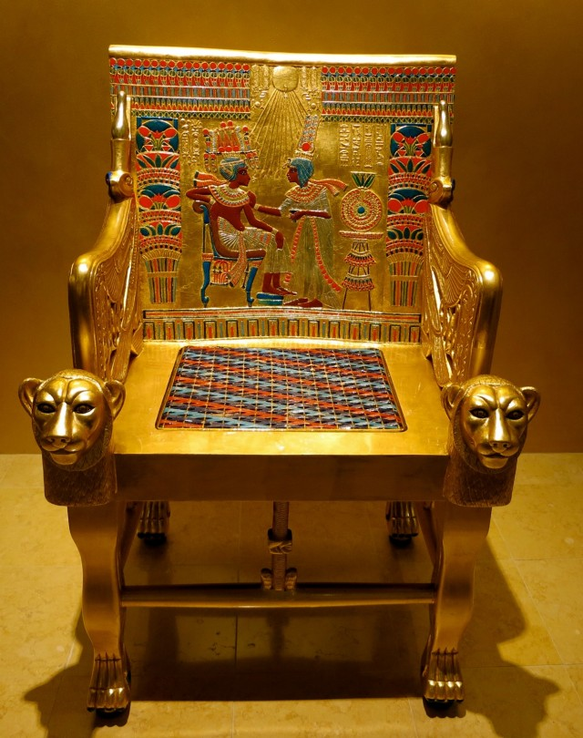 Recreation of King Tut's Golden Throne, Fitchburg Art Museum, Fitchburg, MA
