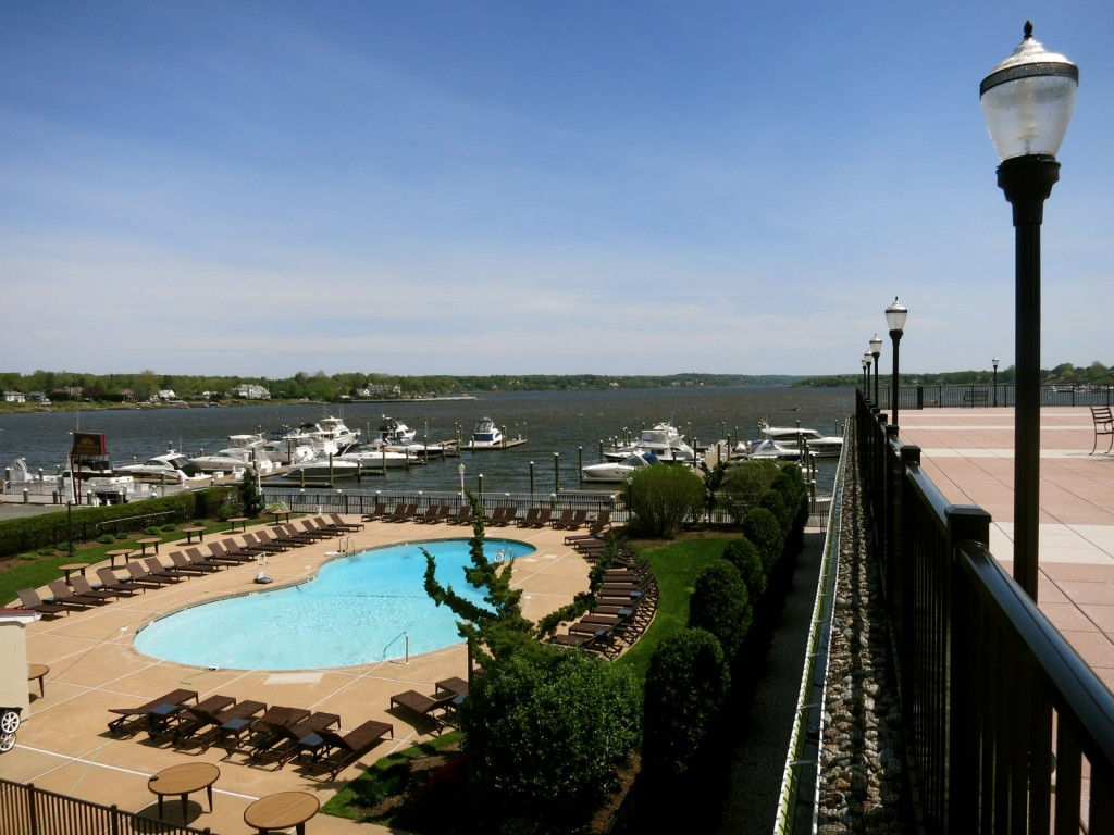 River and pool view from Molly Pitcher Inn Red Bank NJ