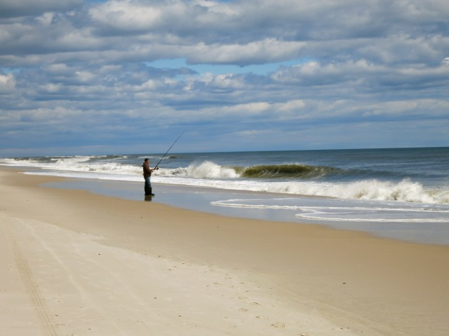 Surf casting, Fire Island Off Season
