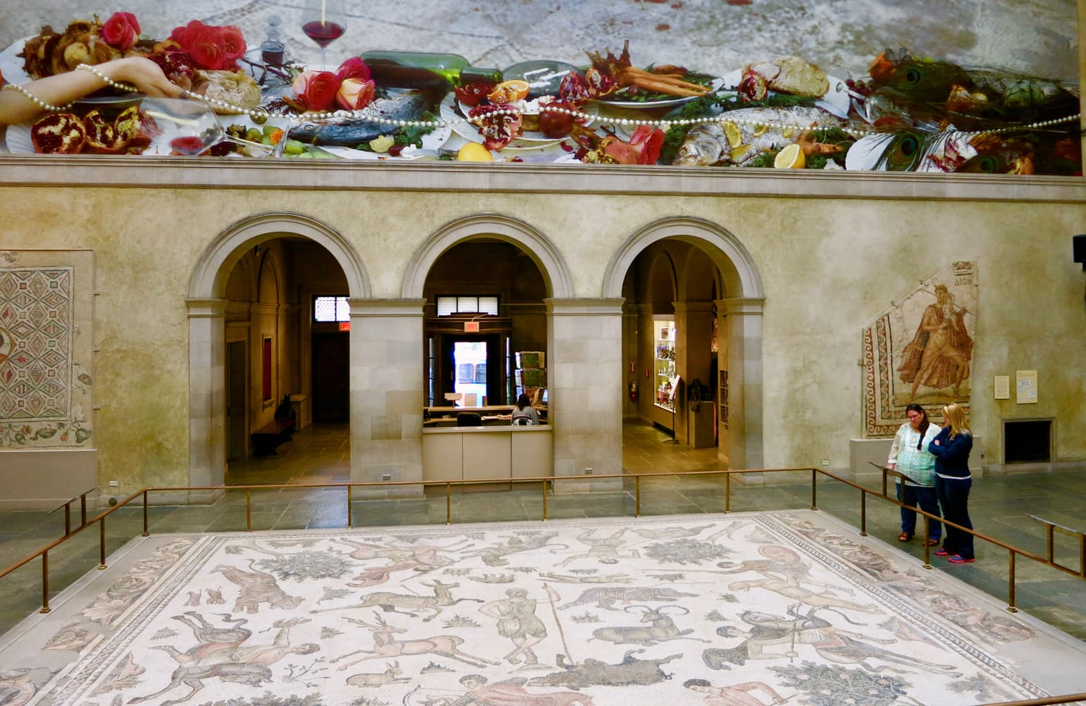 """Antioch """"Hunt"""" Mosaic: Largest Roman Mosaic in North America, Worcester Art Museum, Worcester MA"""