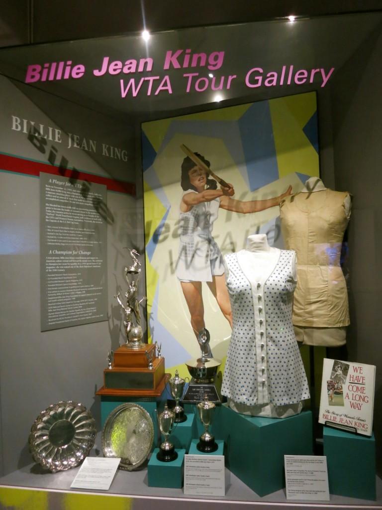 Billie Jean King exhibit - International Tennis Hall of Fame