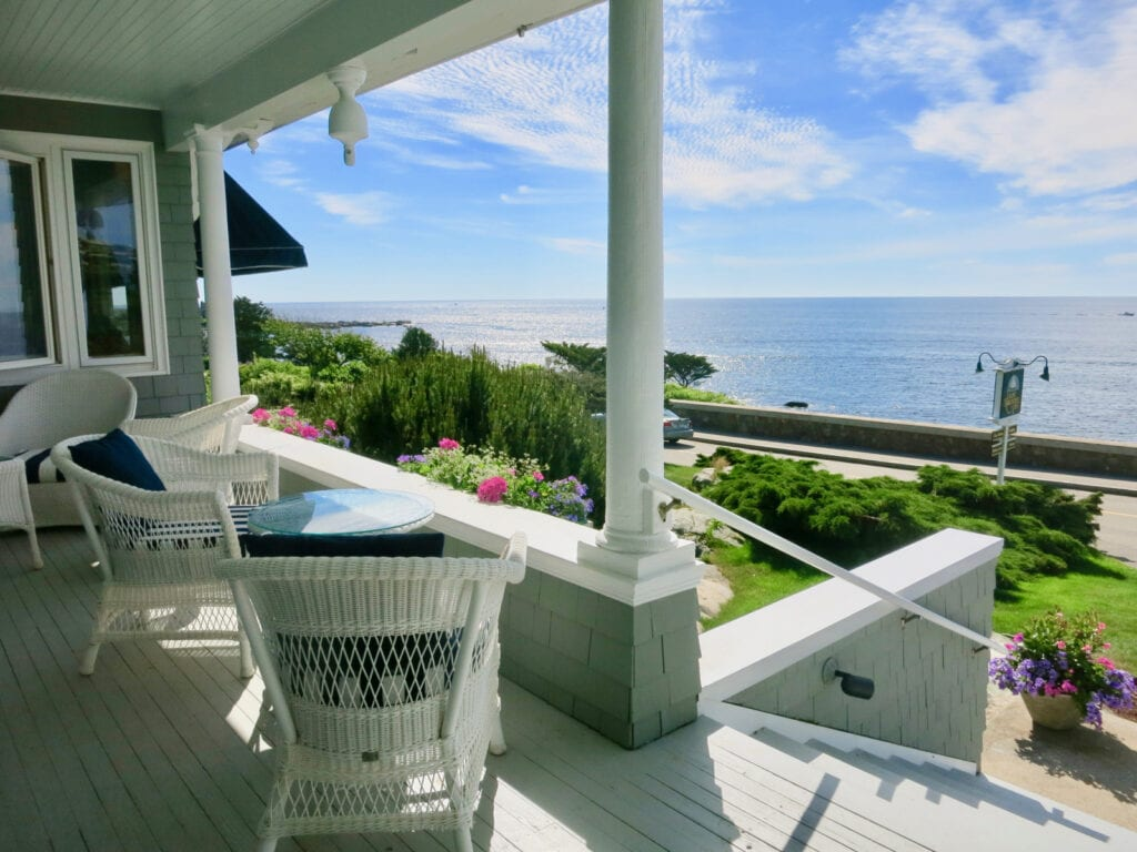 View from the porch Cape Arundel Inn Kennebunk ME