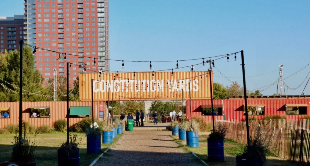 Outdoor seasonal Beer Garden, Constitution Yards, Wilmington DE