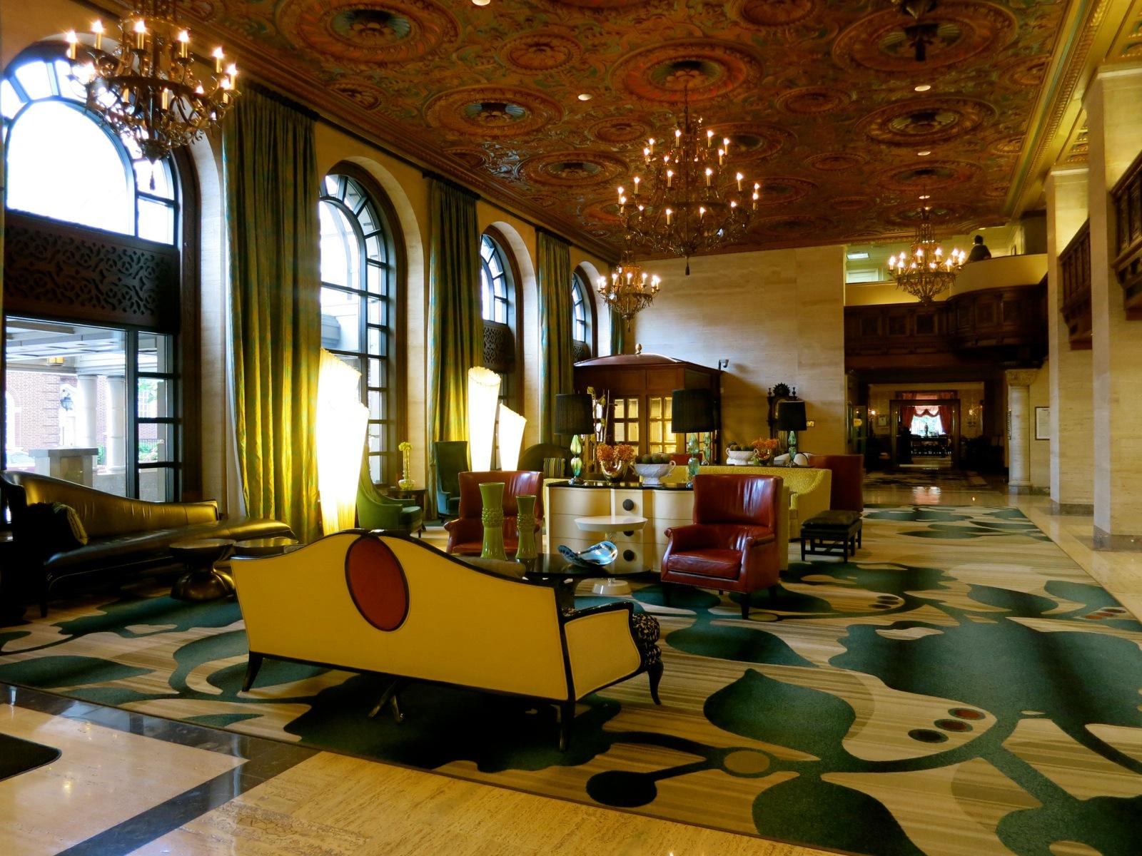 Du Pont Hotel S Renovated Lobby Wilmington De