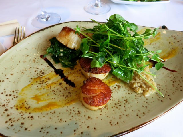 Scallops, Green Room at Hotel Du Pont, Wilmington DE