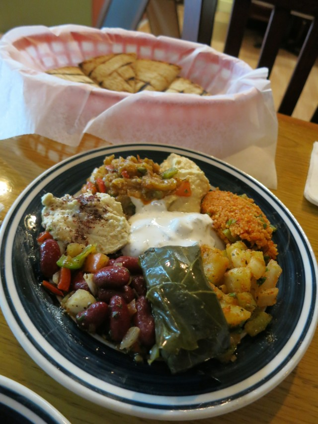 Combo Plate at Semra's Mediterranean Grill, Rehoboth Beach D