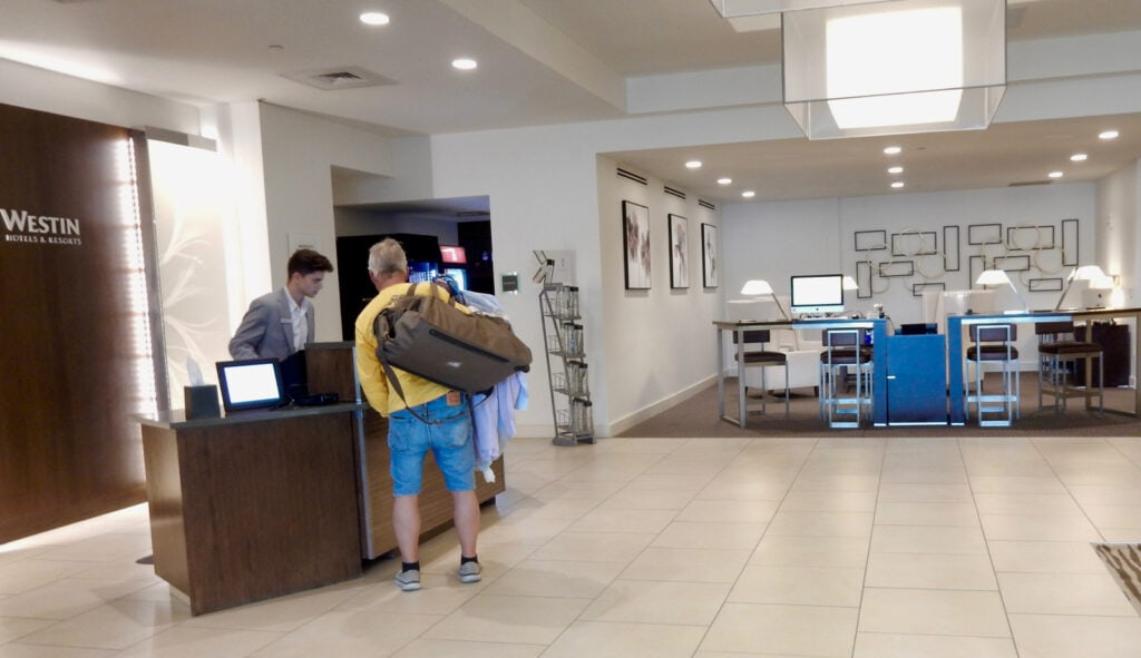 Reception area Westin Wilmington DE
