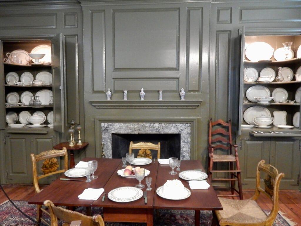 Baltimore Fancy Chairs in Dining Room Wilson-Warner House Odessa DE