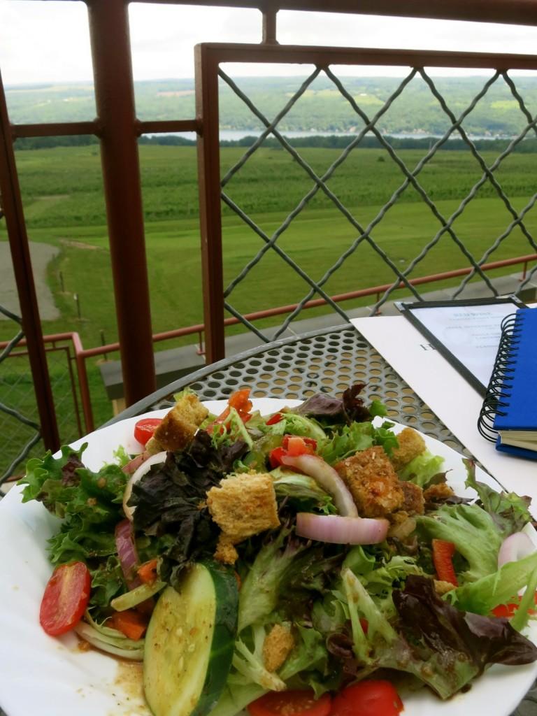 Freshest salad ever at Blue Heron Cafe, at Heron Hill Winery, Keuka Lake NY