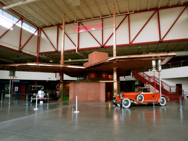 Frank Lloyd Wright Gas Station, Built from Renderings in 2014, Pierce-Arrow Museum, Buffalo NY