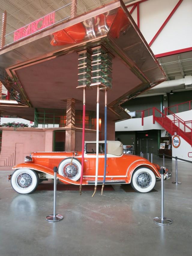 Frank Lloyd Wright Gas Station, Wright's Cord L-29 Cabriolet at Pierce-Arrow Museum, Buffalo NY