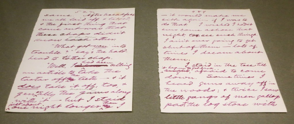 Handwritten manuscript of The Adventures of Huckleberry Finn, Buffalo Public Library