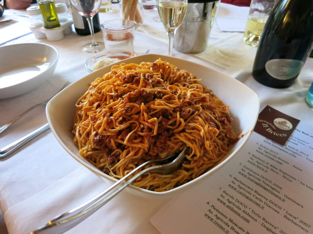 House Made Pasta with Wine Tasting Piedmont Italy