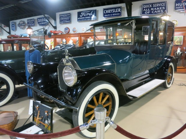 Ohio Electric Car with Patent Leather Fenders at the Pierce Arrow Museum, Buffalo NY