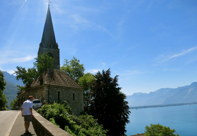 Old Montreux Church on Hill