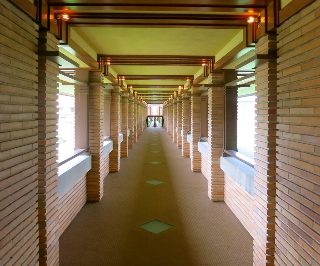 Pergola at Frank Lloyd Wright Darwin Martin Complex