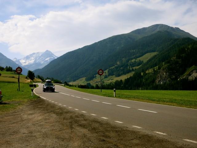 Road Between Montreux Switzerland and Piedmont Italy