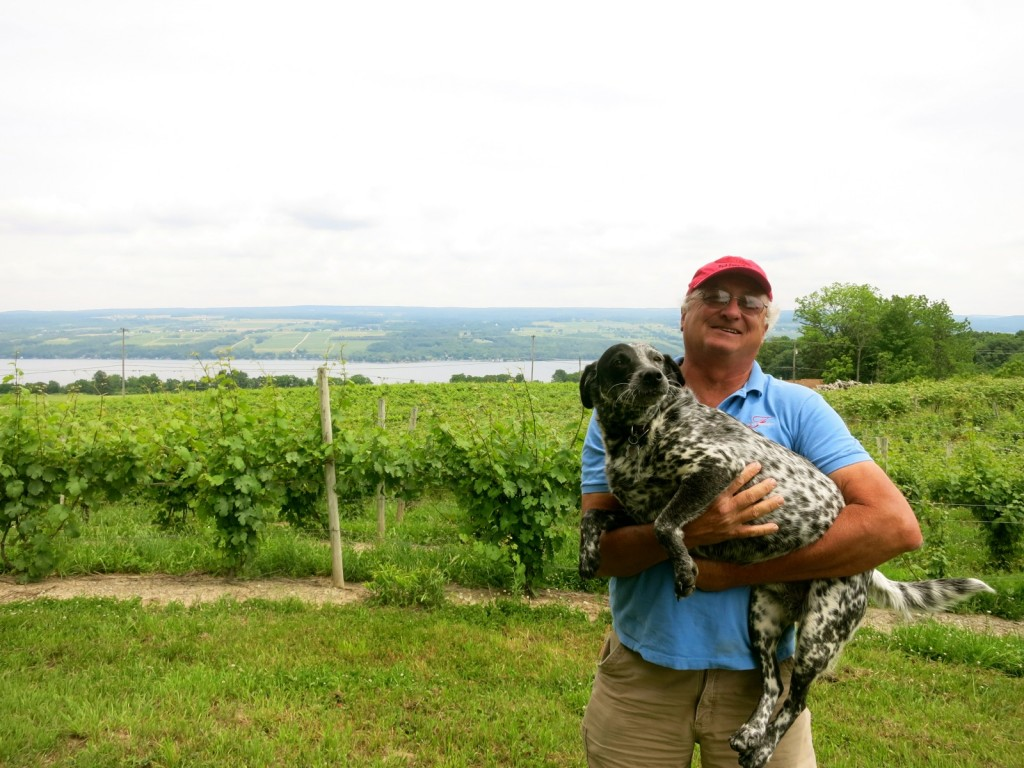 Sayre Fulkerson, owner, Fulkerson Winery and friend, Seneca Lake NY