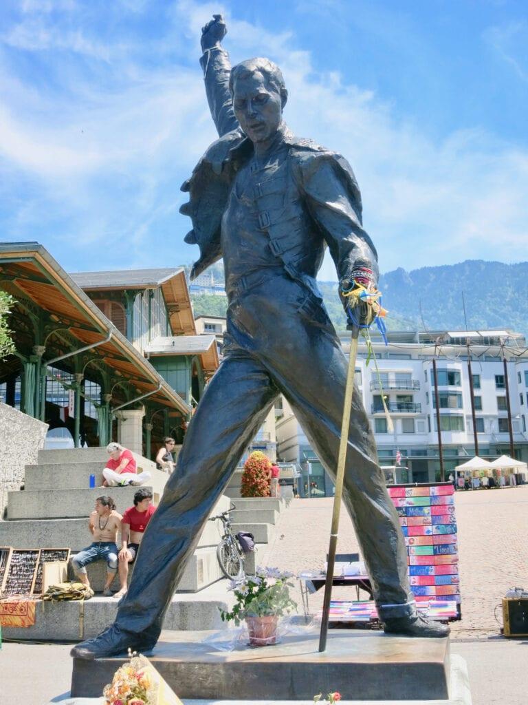 Statue of Freddy Mercury Montreux Switzerland
