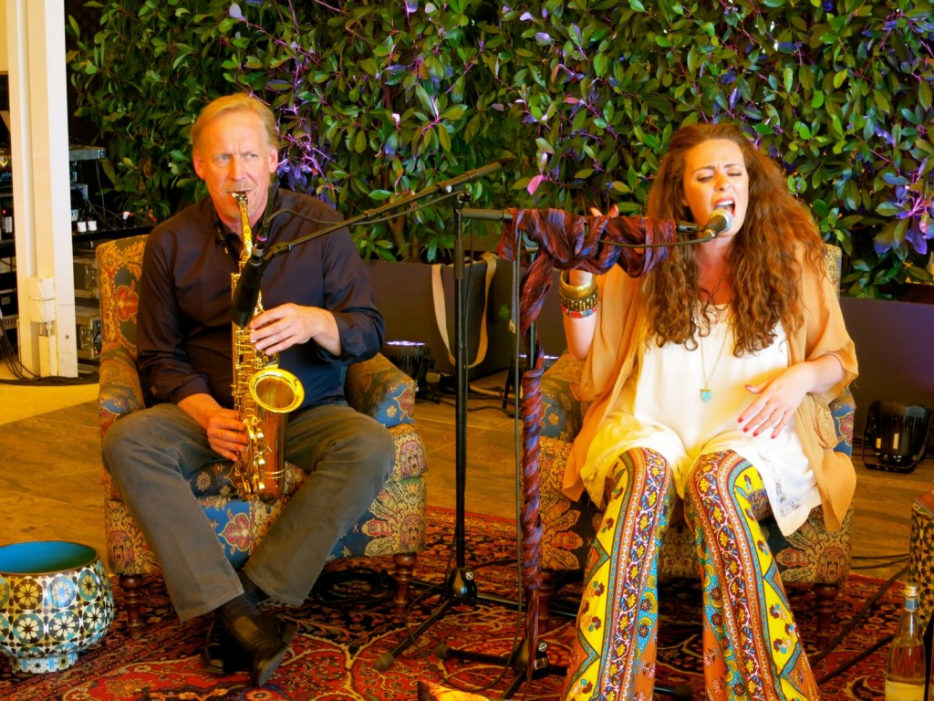 Emerging artist, Stew Viets and established jazz-singer, Mary C. Hall in Montreux for the Jazz Festival